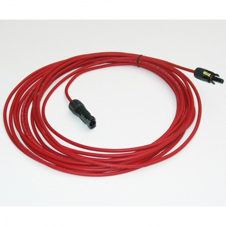 Kabel zonnepanelen 15 meter met MC4-male - female rood