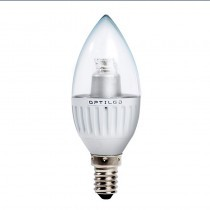 LED K20 W: Optiled Candle-150 E14  lamp, 3.6W, kaars (ACTIE, OP=OP)